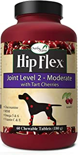 NaturVet – Overby Farm Hip Flex Joint Level 2 - Moderate Formula – Great for Large Breeds & Overweight Dogs – Enhanced with Glucosamine, MSM, Vitamins & Omegas