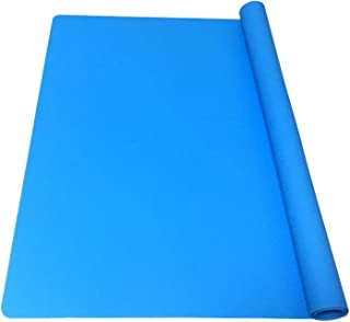EPHome Extra Large Multipurpose Silicone Nonstick Clay Mat, Heat Resistant Nonskid Counter Mat, Dab Mat, 23.6''15.76'' (Blue)