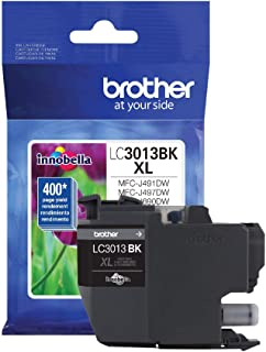 Brother Printer High Yield Ink Cartridge Page Up To 400 Pages Black (LC3013BK), Standard
