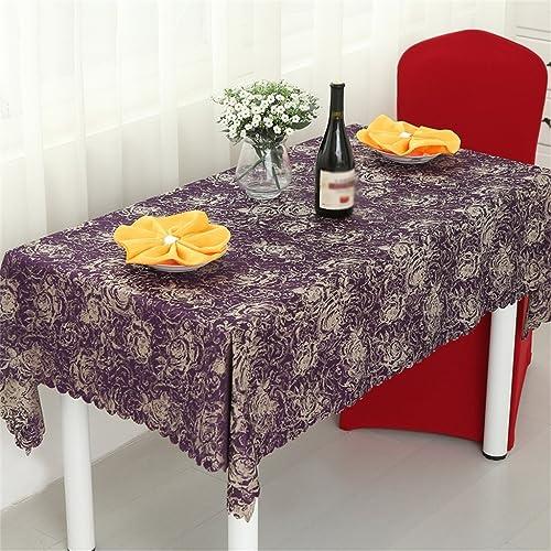 QIN PING GUO QPG Europ che Stil rechteckige Tisch Tischdecke Stofürestaurant Tischdecke Bankett Kaffee Tisch Tischdecke (Farbe    1, Größe   180180cm  )