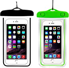 (2Pack) Universal Waterproof Case, IPX8 Phone Pouch Dry Bag Compatible with iPhone XR X XS MAX/8/8plus/7/7plus/6s/6/6s Plus Samsung Galaxy s8/s7 Google Pixel HTC10 up to 6.5