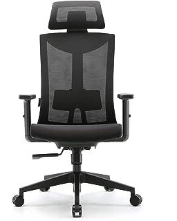 Amazon Brand – Umi Chaise de Bureau Ergonomique-Fauteuil de Bureau avec Soutien au Niveau des Lombaires et Accoudoirs en P...