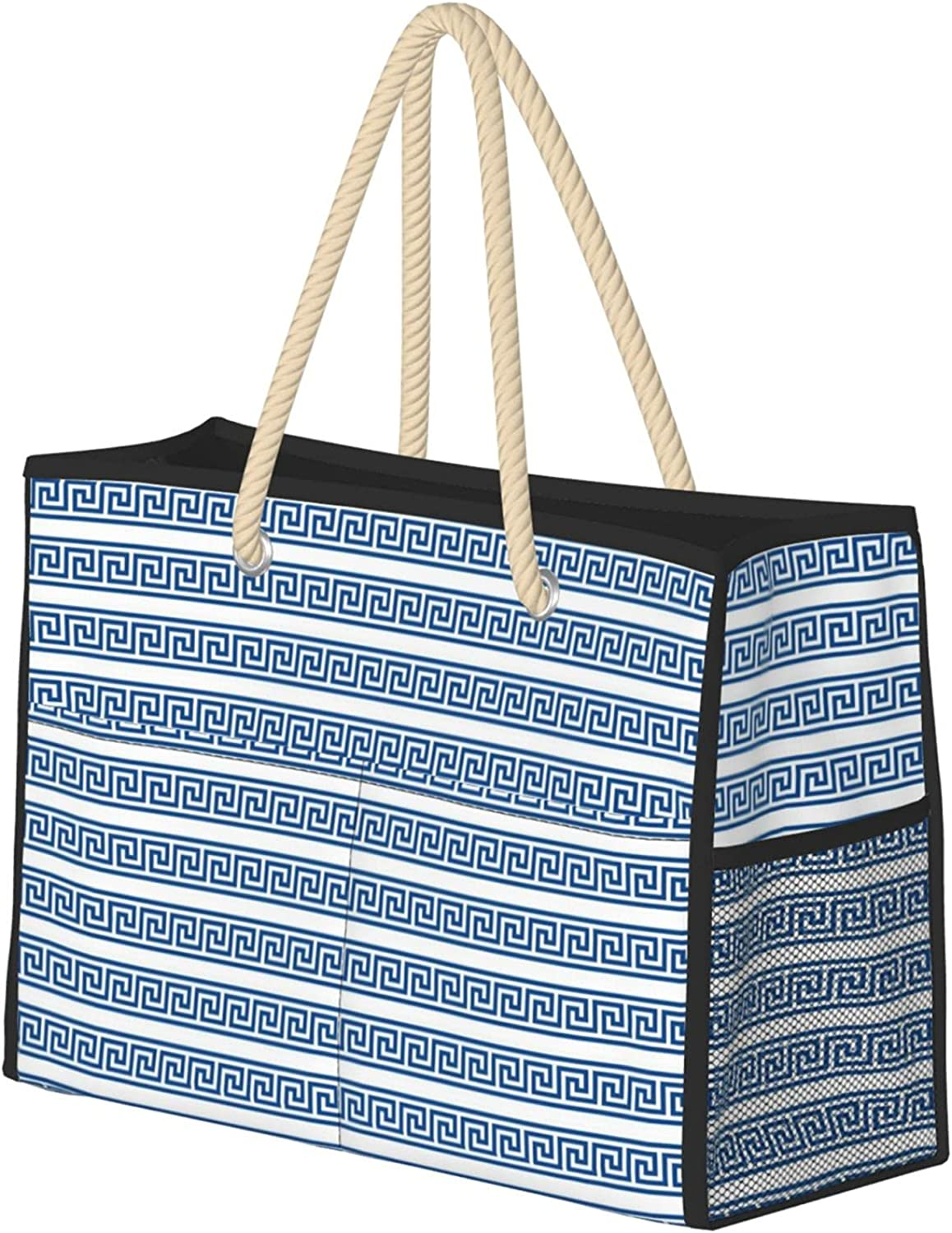 Greek Chicago Mall Key Single Row Women Beach Zipper Bag With Trav Some reservation Tote Large