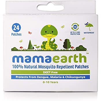 Mamaearth Natural Mosquito Repellent 24 Patches (2 Pcs, White)
