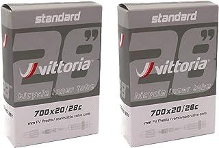 2個セット Vittoria インナーチューブ 700c 仏式バルブ Standerd inner tube [並行輸入品]