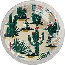 AITAI Plant Cactus Patroon Ronde Kabinet Knop 4 Pack Trekt Handvatten