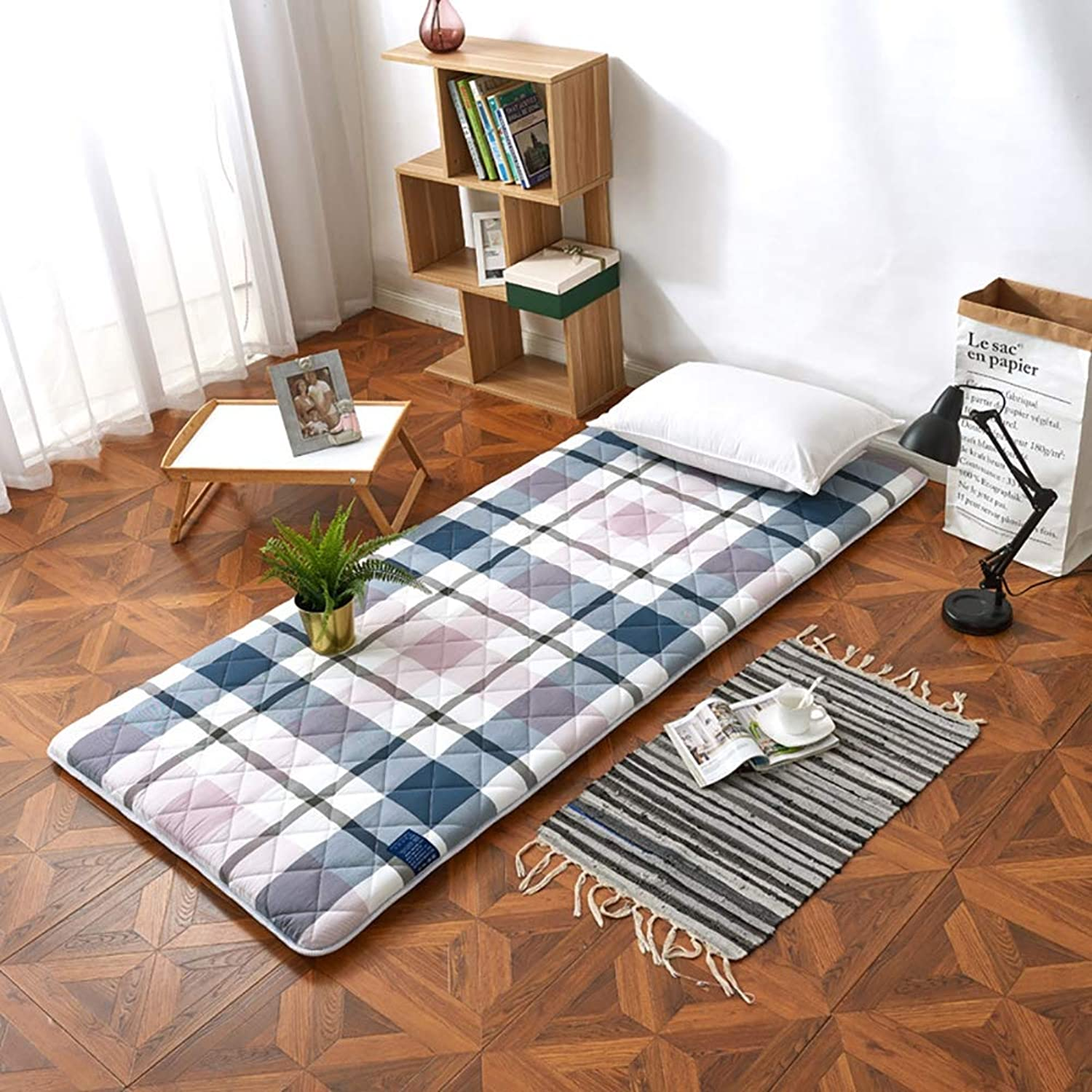 Thick Mattress, Tatami Single Double Student Dormitory mat for Student Dormitory Living Room Bedroom,A,90×200cm