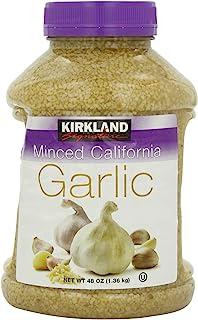 Kirkland Signature Minced California Garlic, 48 Ounce (Pack of 2 (96 Ounce, 48 Ounce Each))
