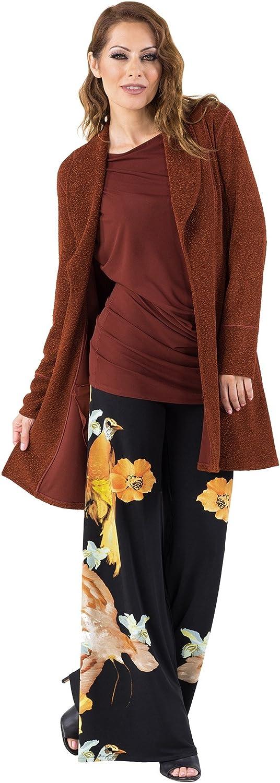 Eva Varro's Women's Zip Pocket Jacket Large Cognac Pebbles