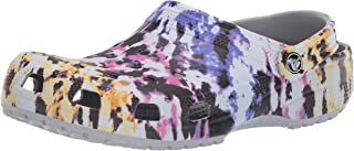 Crocs Unisex's Men's and Women's Tie Dye Mania Clog|Casual Slip On Water Shoe, Multi/Light Grey, 6 4