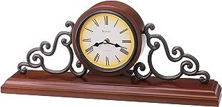 Bulova B1910 Strathburn Clock, Walnut Finish