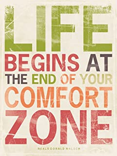 Life 12x16 Inspirational Poster Comfort Zone Home Art Print