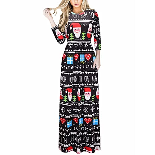 1c1f931097fc Ruiyige Women Elegant Floral Print Summer Beach Long Maxi Dresses with  Pockets