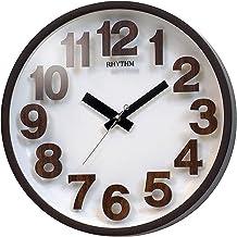 Rhythm CMG480NR06 Wall Clock, Brown and White
