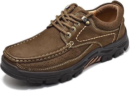 Chaussures De Plein Air Sport Choc Camouflage Suture Imperméable à l'eau De Sécurité Emballé Semelle en Caoutchouc épaissie,marron-b-41