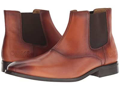 CARLOS by Carlos Santana Rhythm Chelsea Boot (Cognac Calfskin Leather) Men