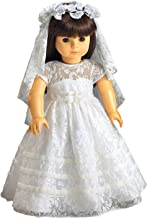 CARPATINA Special Day Communion Bridal Dress, Veil and Flower Wreath fits 18