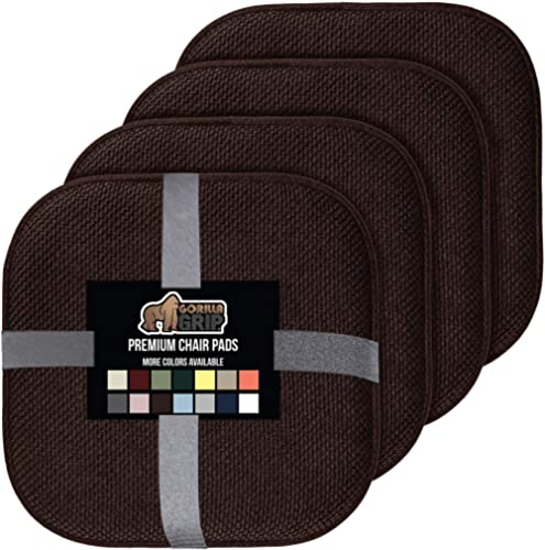 Gorilla Grip Memory Foam Chair Cushions, Slip Resistant, Thick and Comfortable Seat Cushion Pads, Premium Large Size,...