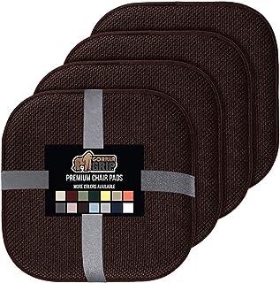 Gorilla Grip Memory Foam Chair Cushions, Slip Resistant,...