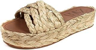 7dac720cbd1c3a Zara Femme Chaussures à Talons compensés et Plateforme en Raphia Naturel  2360/001