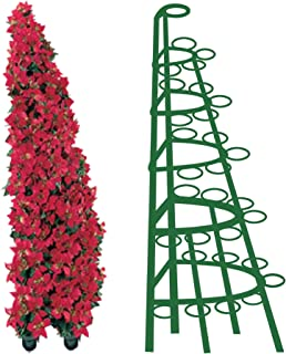Creative Displays Half Round Poinsettia Tree Rack Display 104 - Freestanding Vertical Garden Frame   Great for Poinsettias, Flowers, Potted Plants, Succulents, and More (5.5 Ft)
