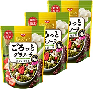 Matcha and Mochi Nisshin Cisco Fruit Cereal Gorotto granola - Japanese Matcha Granola Cereal 3 Pack (made in Japan) expires 9/16/2019