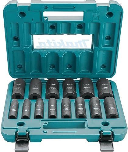 "high quality Makita popular A-96372 1/2"" Drive Impact Socket Set (14 outlet sale Piece) outlet sale"
