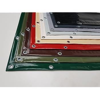 verschiedene Durchmesser und Farben 100cm, Anthrazit RAL7016 ohne /Ösen Runde LKW-Plane//PVC-Plane 620g//m/²