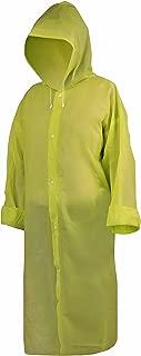 Wealers Adult Long Raincoat with Hood EVA Material Breathable and Lightweight Reusable Unisex Rainwear