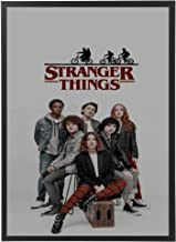 Artwork frame for stranger things Netflix with black wooden frame, it can be held in the wall