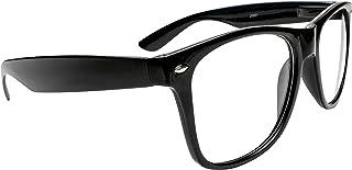 Black Wayfarer Super Hero Nerd Glasses