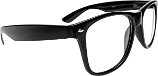 Black Wayfarer Super Hero Nerd Glasses