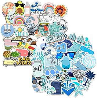 85 PCS Cute azules Vinilo Pegatinas VSCO Girls Water Bottle Stickers para movil Botellas de Agua Coche Moto Pared Biciclet...