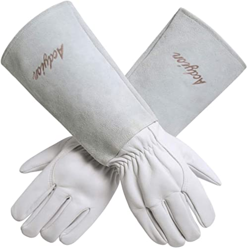 Acdyion Gardening Gloves for Women/Men Rose Pruning Thorn & Cut Proof Long Forearm Protection Gauntlet, Durable Thick...