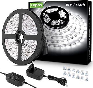 Lepro LED Strip 10M, LED Streifen Lichterkette Kaltweiß, Band Lichter Wasserdicht IP20, Weiß Dimmbar Lichtleiste Light, Li...