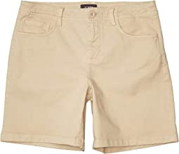 Five-Pocket Shorts with Stretch Twill in Feather