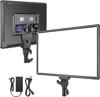 Neewer Super Fino LED Video Luz Iluminación Suave 40W 3200K-5600K CRI95 + Panel LED Regulable con Pantalla LCD Cámara Luz ...