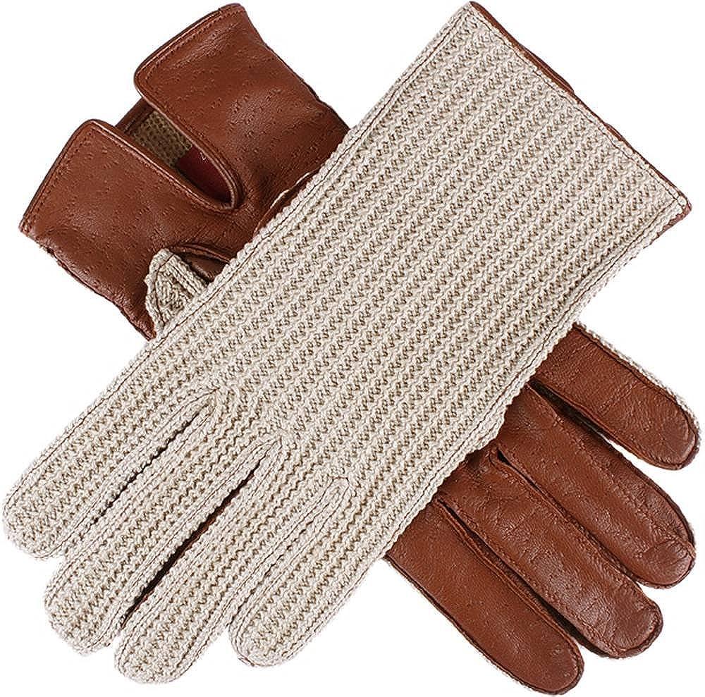 Dents Womens Lesley Cotton Crochet Driving Gloves - Cognac Tan