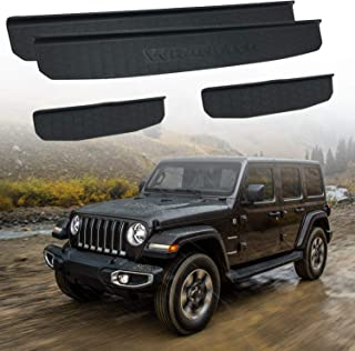 Door Sill Guards Kit Compatible with 2018-2020 Jeep Wrangler JL Accessories Parts, Door Entry Guard Kit, Wrangler JL Sahar...