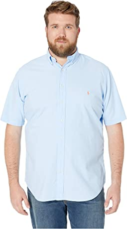 Big & Tall Solid Garment Dyed Oxford Short Sleeve Classic Fit Sports Shirt