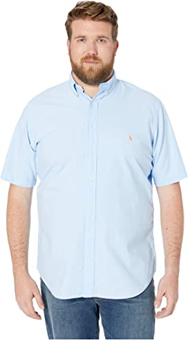 3be3282cb322 Big & Tall Solid Garment Dyed Oxford Short Sleeve Classic Fit Sports Shirt