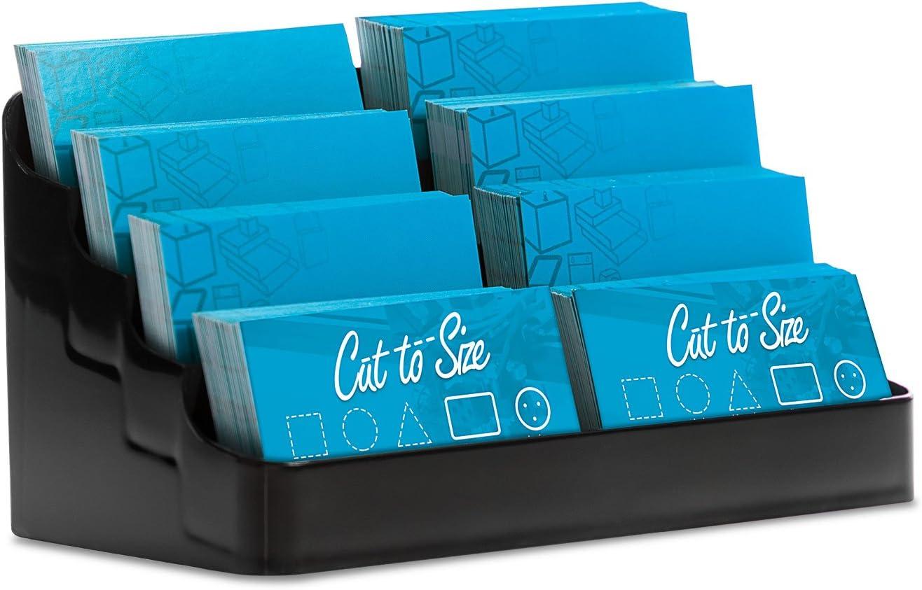 Regular store Source One online shopping 8 Pocket Desktop Clear Card Black Acrylic Business