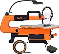 TACKLIFE Scroll Saw With Rotary Tool, TACKLIFE 16-inch, 500-1700 SPM Unique Pedal Switch, Variable Speed Scroll Saw, 4 Bla...