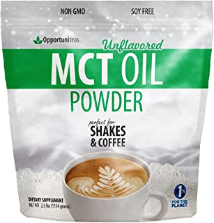 MCT Oil Powder - Delicious Creamer for Coffee, Tea, Smoothie, Recipe - Perfect Supplement for Keto, Ketogenic Diet - Easy ...