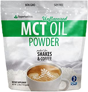 MCT Oil Powder - Bulk 2.5 lb Size - Delicious Creamer for Coffee, Tea, Smoothie, Recipe - Perfect Supplement for Keto, Ket...
