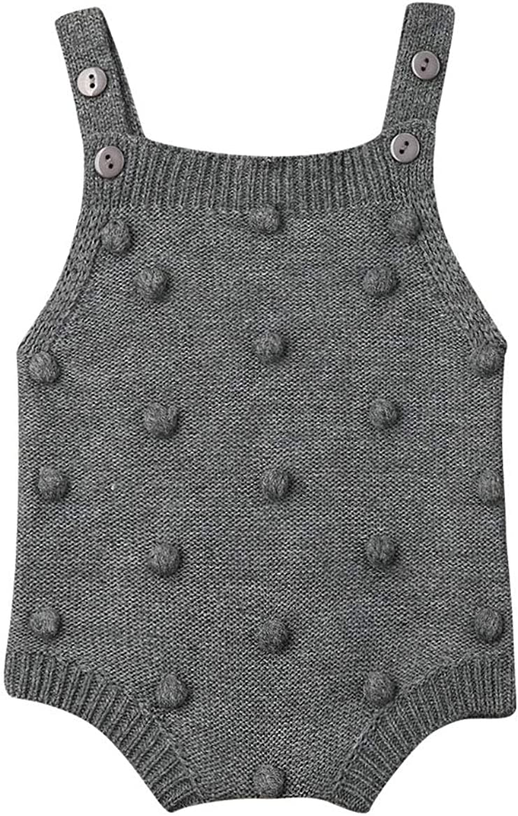 Special price 5 ☆ popular Gueuusu Newborn Baby Boy Girl Knit Pompom Sleeveless Swea Romper