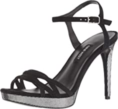 NINE WEST Women's Quicklime Suede Heeled Sandal