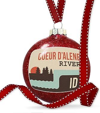 NEONBLOND Christmas Decoration USA Rivers Coeur d'Alene River - Idaho Ornament
