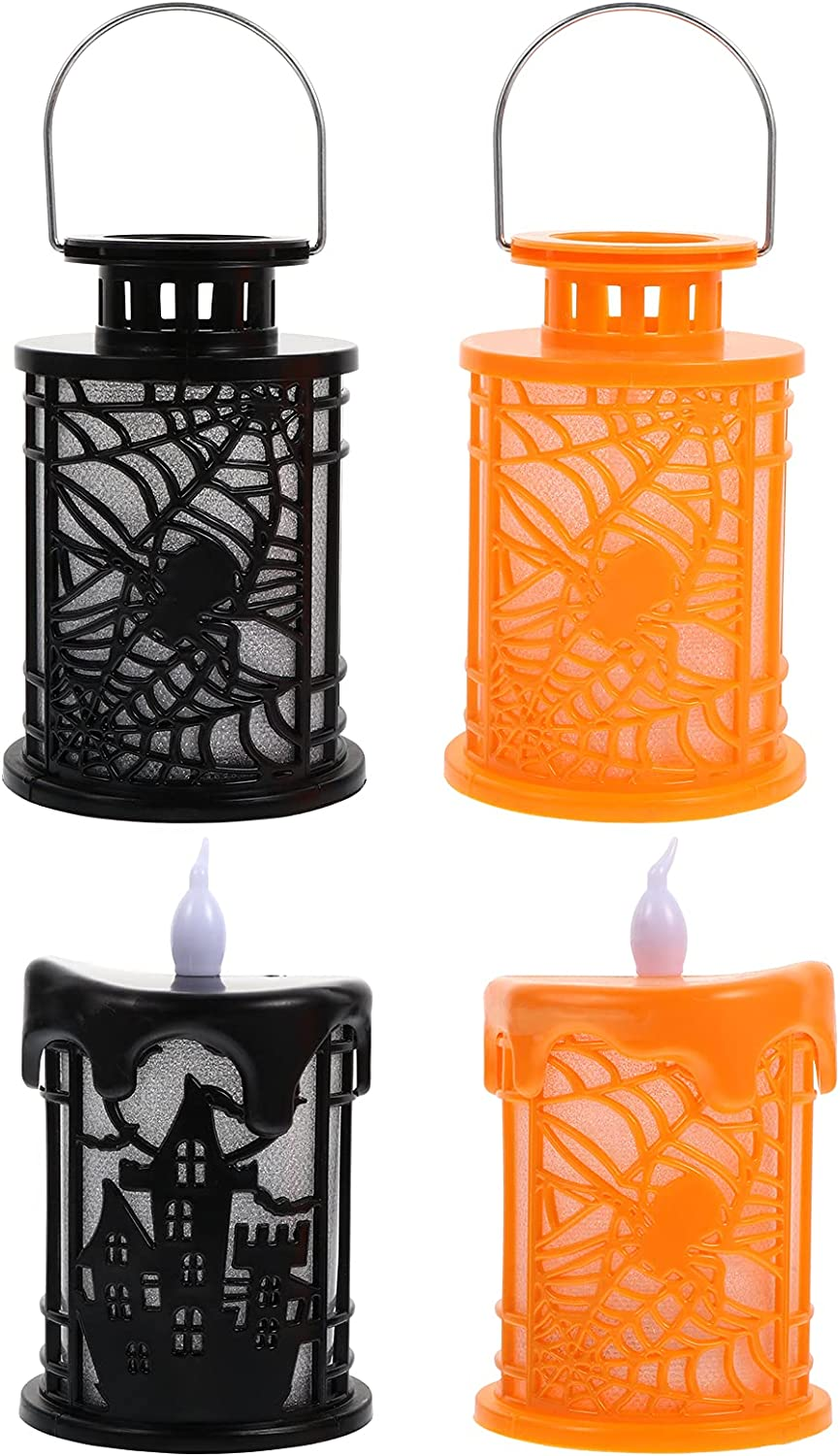 BESPORTBLE 4pcs Halloween LED Lamps Lights Candle Animer and price revision Nig Decorative Cheap mail order specialty store