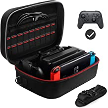 Carrying Storage Case for Nintendo Switch Console Pro Controller & Accessories, Portable Hard Shell Travel Bag With 18 Gam... photo